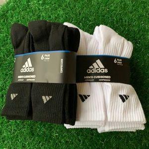 2 packs - 6 pairs sets Adidas Men's Cushioned Crew